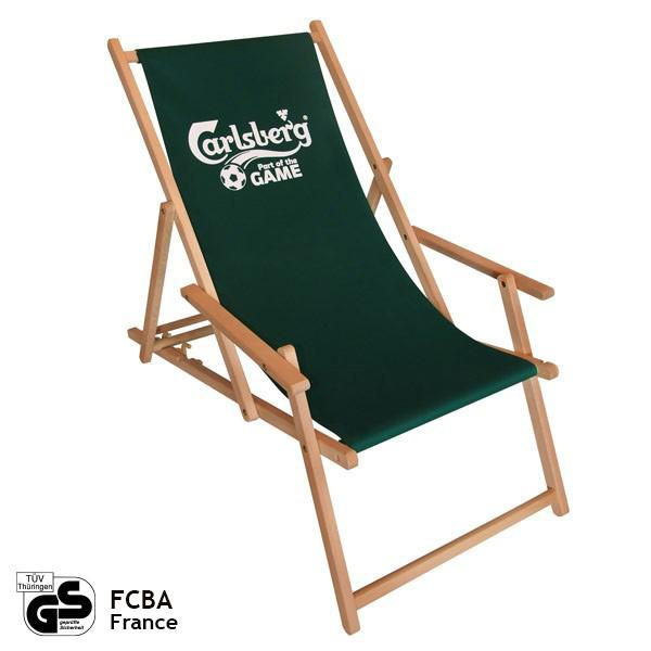 Deck chair with arm rests (classical) - advertisement