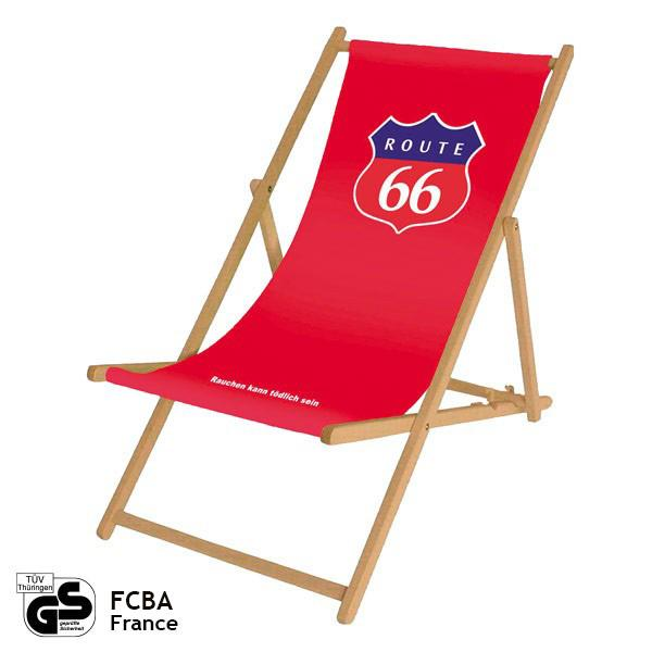 Deck chair without arm rests (classical) - advertisement